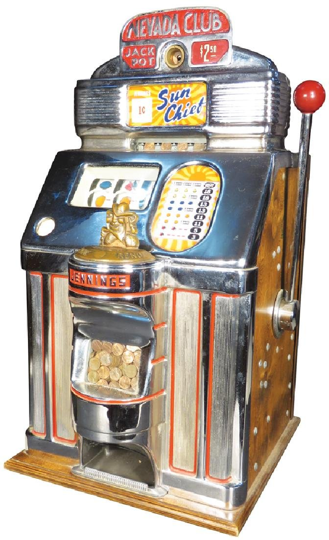 Jennings 1 Sun Chief Cent Slot Machine