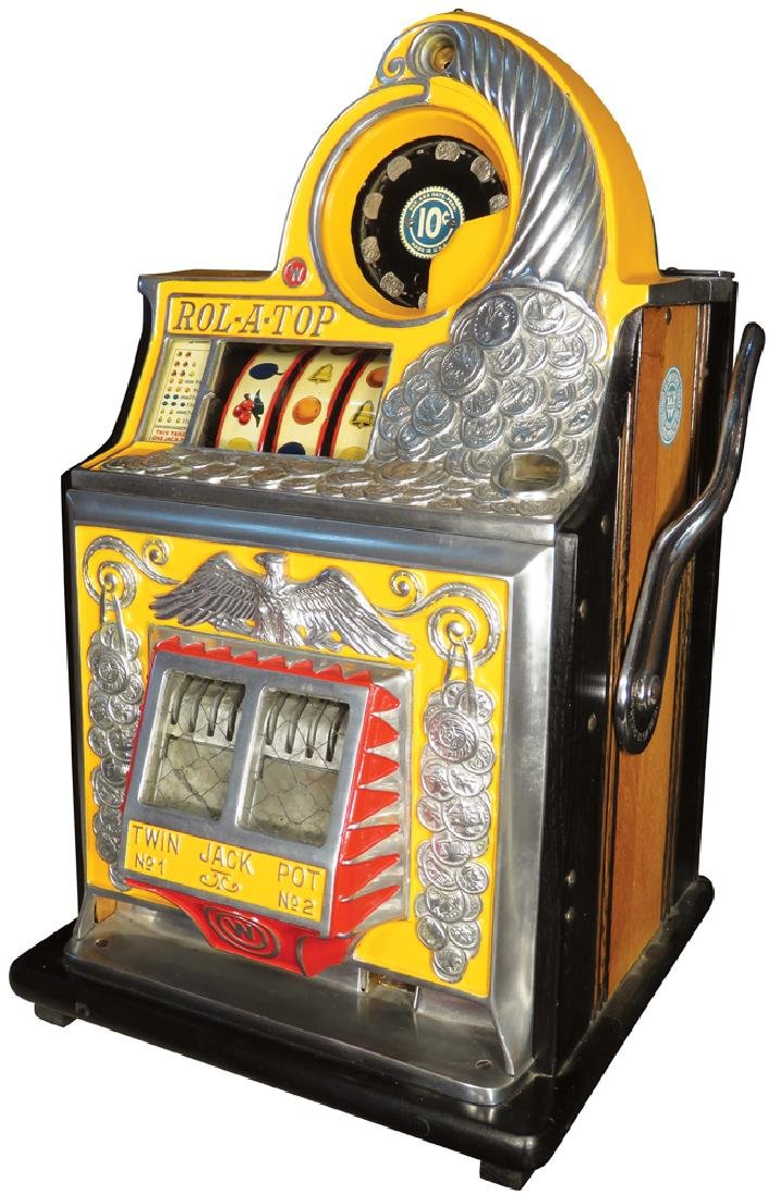 Watling 10 Cent Rol-O-Top Slot Machine
