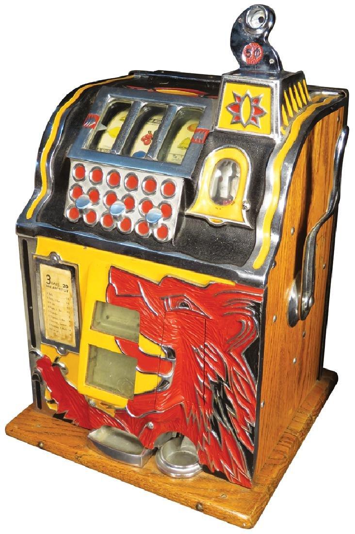 Mills 5 Cent Wolf Head Slot Machine