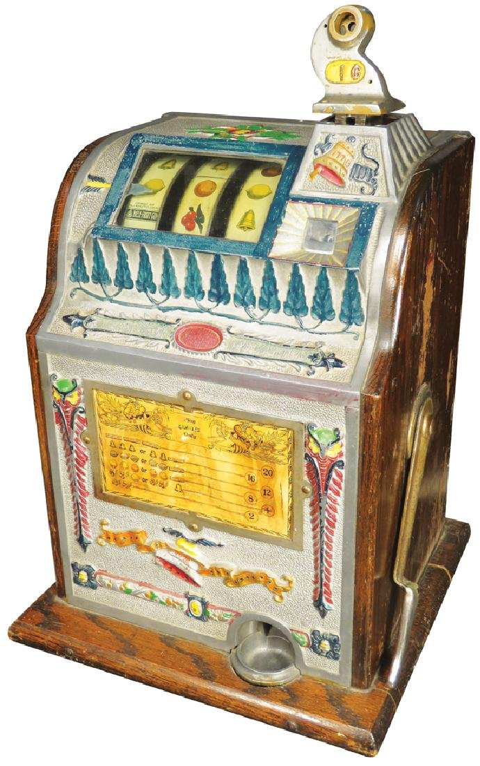 Mills 1 Cent Owl Slot Machine