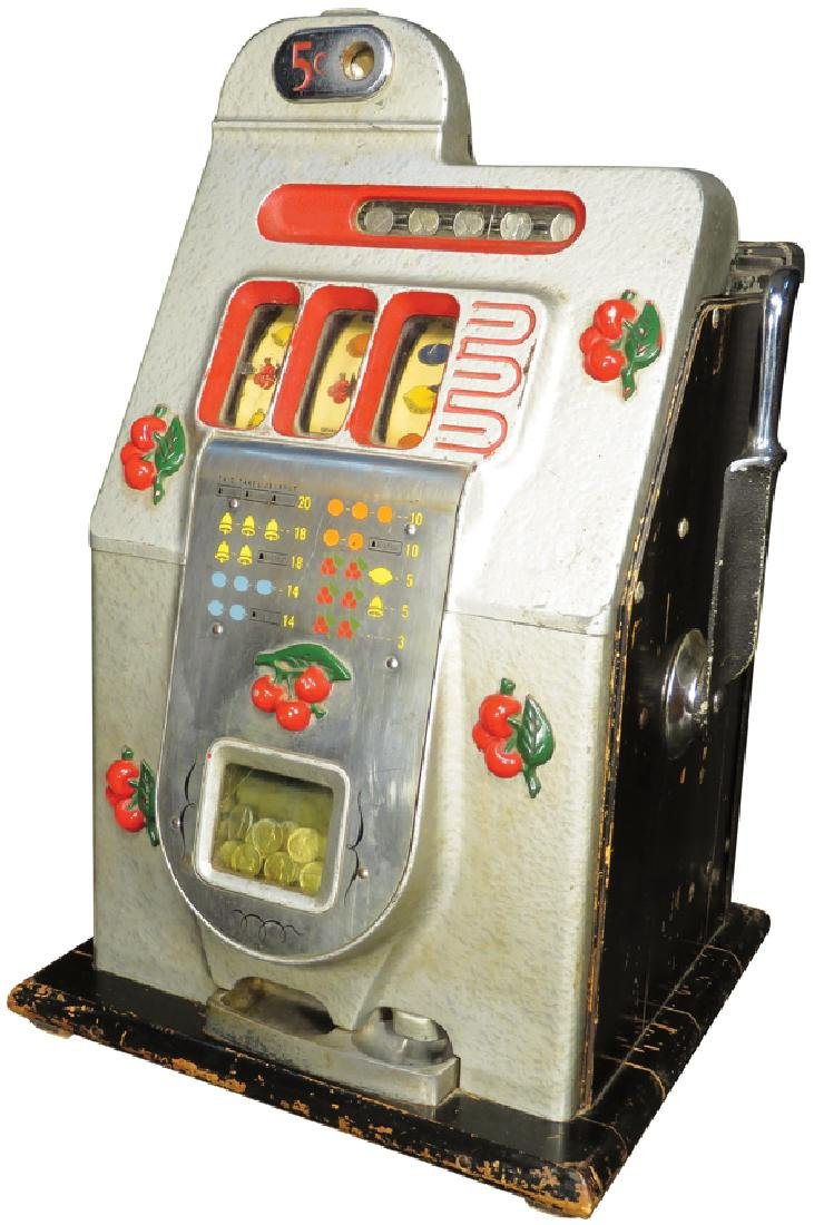 Mills 5 Cent Cherry Front Slot Machine