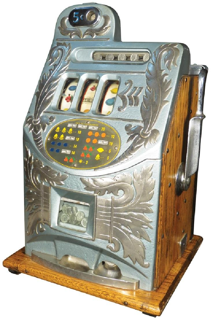 Mills 5 Cent Plume Front Slot Machine