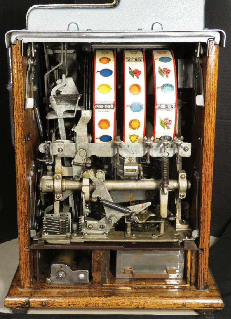Mills 5 Cent Plume Front Slot Machine - 3