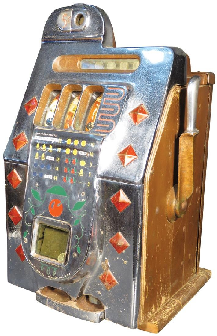 Mills 5 Cent Diamond Front Slot Machine