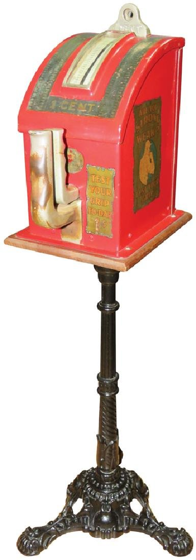 Coin Operated 1 Cent Grip Strength Tester