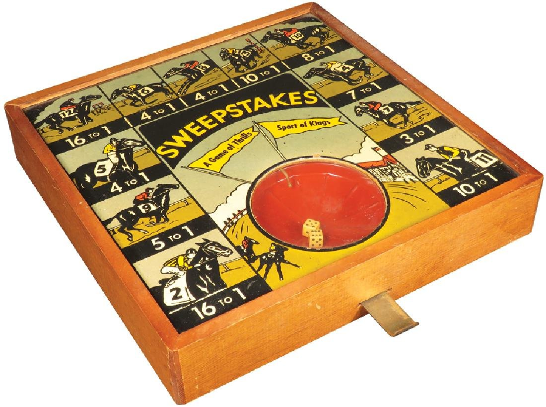Sweepstakes Mechanically Operated Dice Game