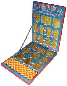 Punch-Em, Count-Em, Cash-Em, Punch Board