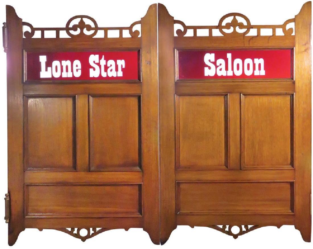 Lone Star Walnut Saloon Doors