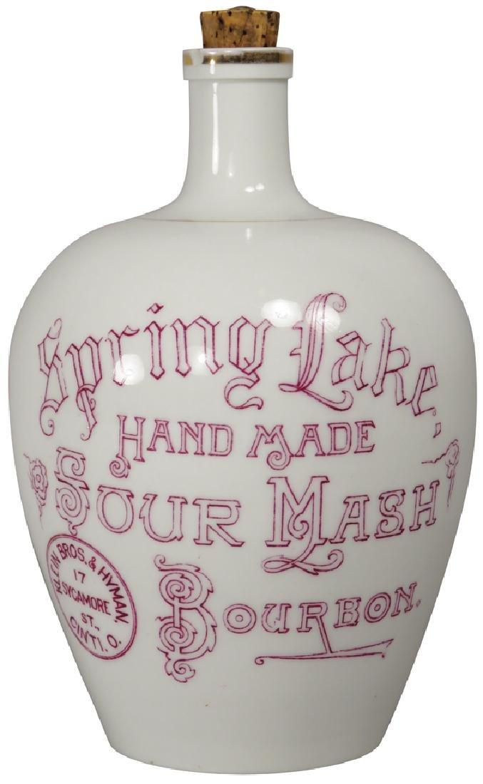 Spring Lake Sour Mash Bourbon Porcelain Jug
