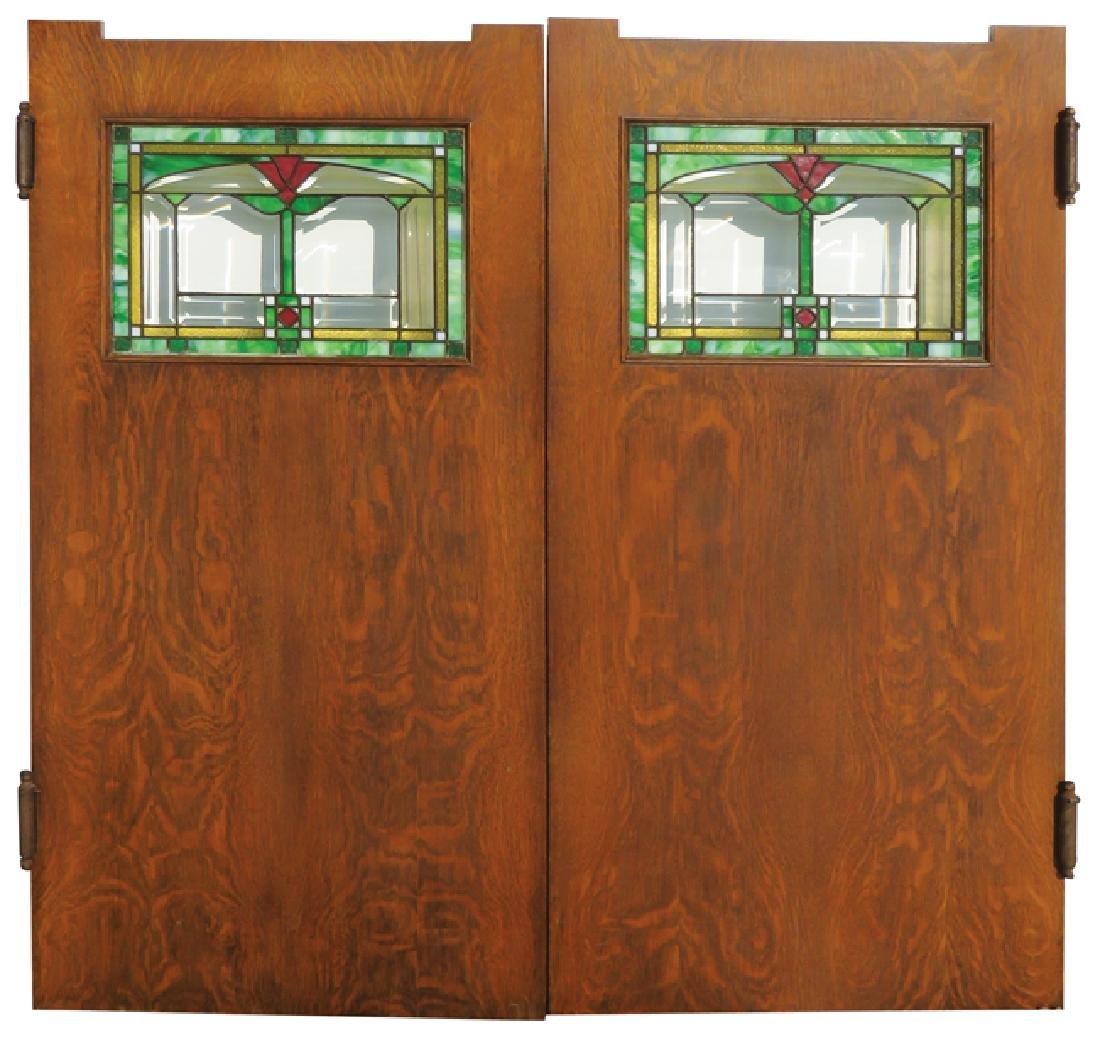 Quartersawn Oak Saloon Doors