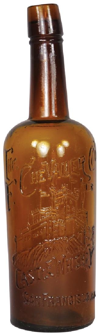 The F Chevallier Co's Amber Whiskey Bottle