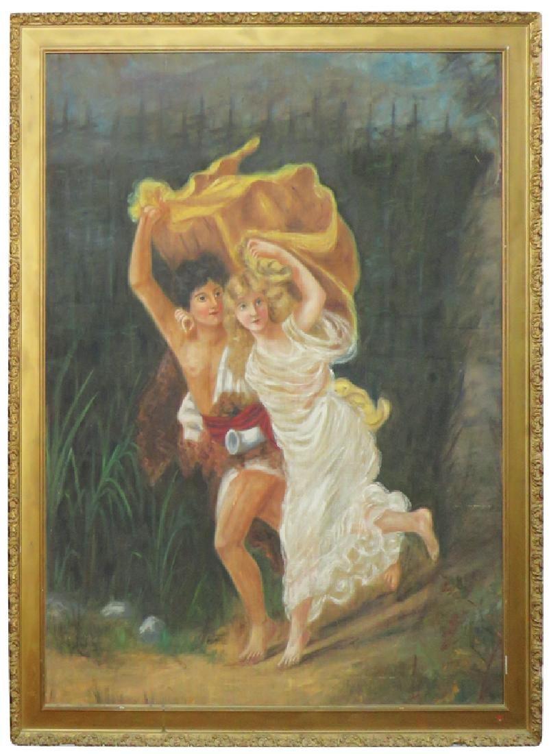 Saloon Painting has Virginia Dare Ad Image