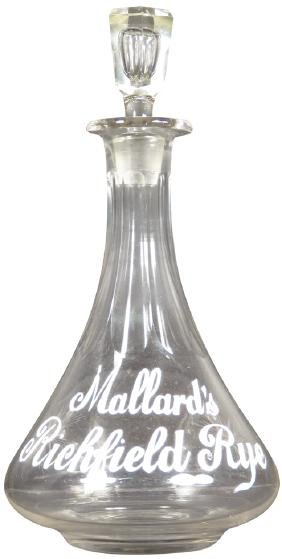 Mallard's Richfield Rye Saloon Back Bar Bottle