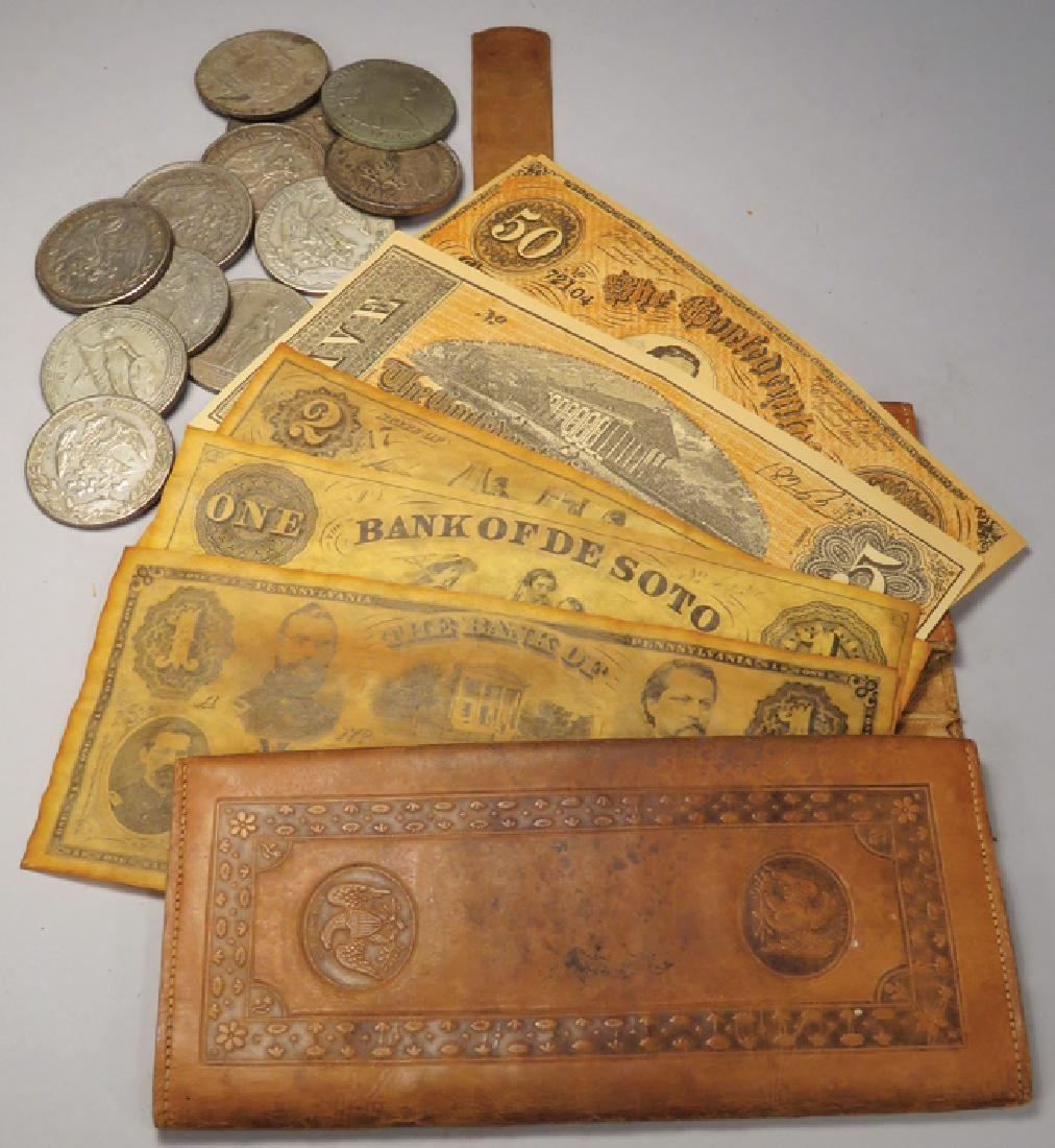 Silver Foreign Coins and Early Bank Notes