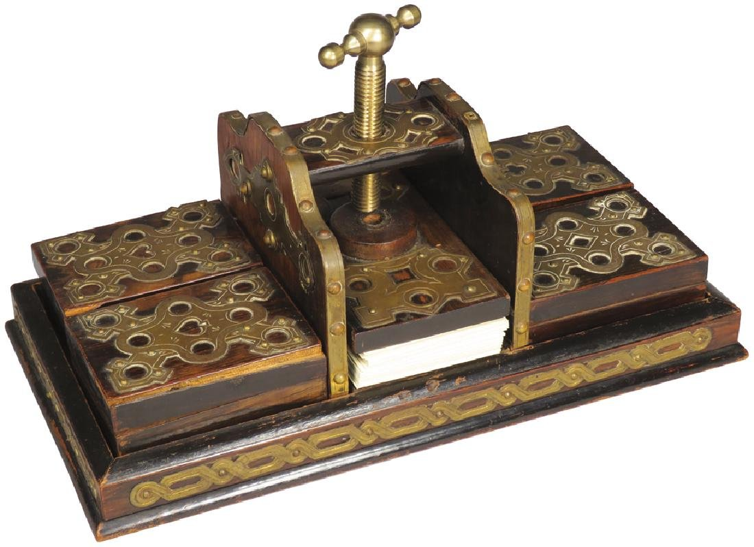 Early Gambling Card Press