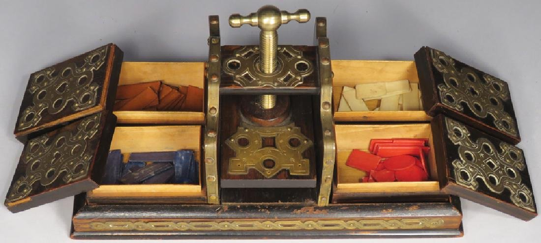 Early Gambling Card Press - 2