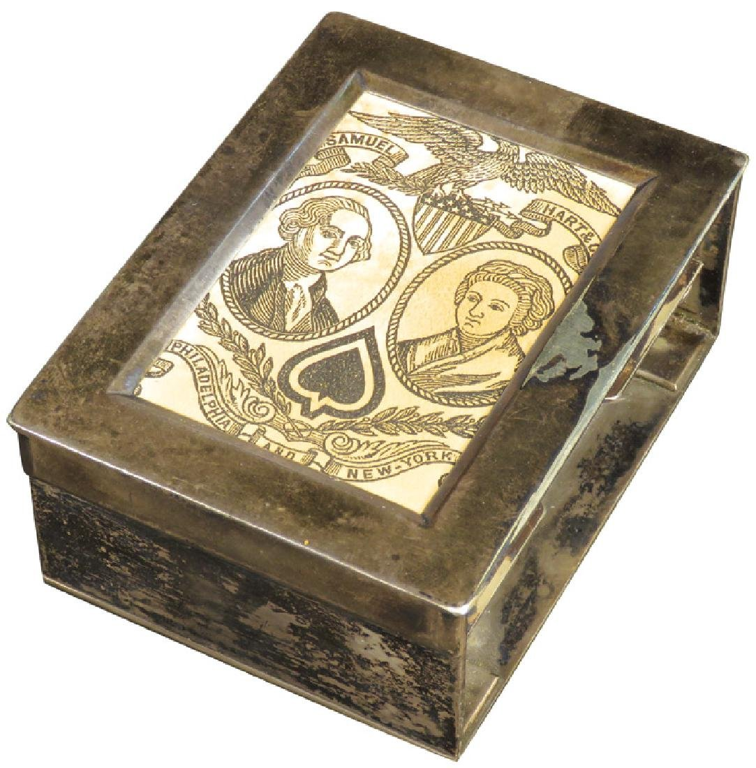 Silver Plated Faro Dealers Box