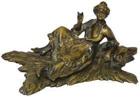 Bronze Victorian Naughty Sculpture