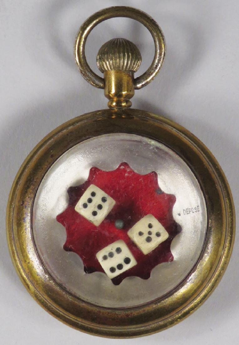 Antique Dice Pocket Watch Game