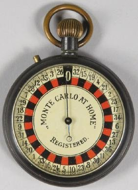 Antique Roulette Wheel Pocket Watch Game