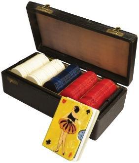 Box of Red, White & Blue Poker Chips