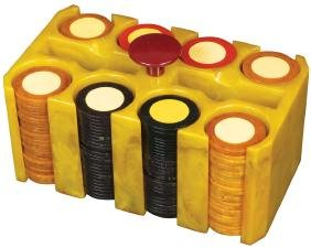 Vintage Bakelite Poker Chip Caddy