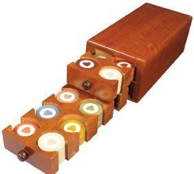 Vintage Wood Poker Chip Caddy