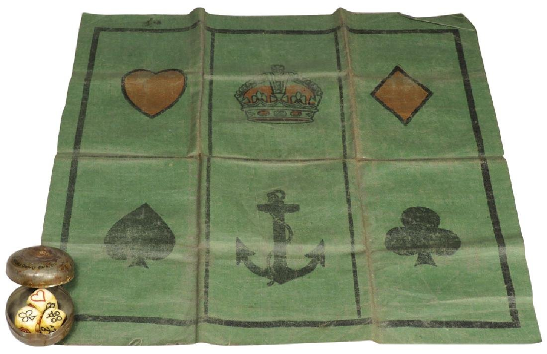 Vintage Gambling Crown and Anchor Game