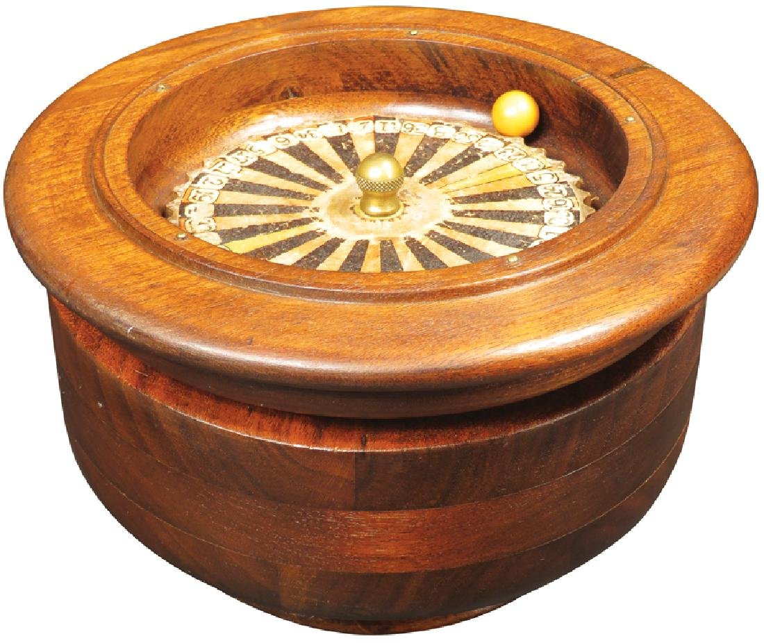 Early Wood Bowl Roulette Wheel Game