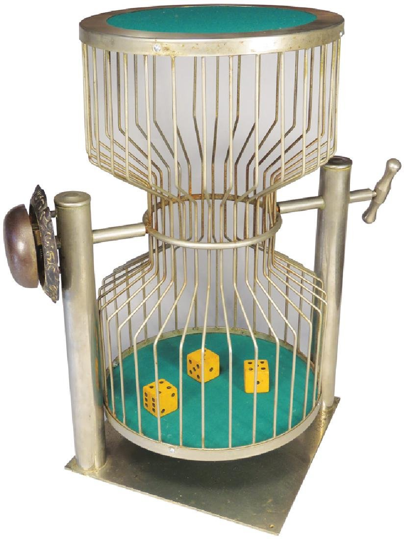 Large Nickel Plated Chuck-A-Luck Dice Cage