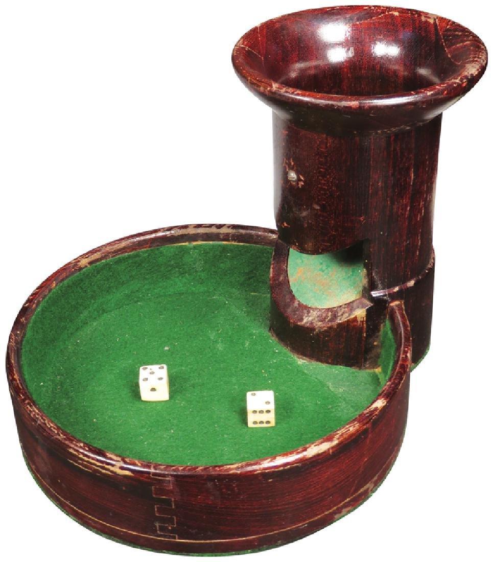 Early Wood Dice Drop Gambling Game