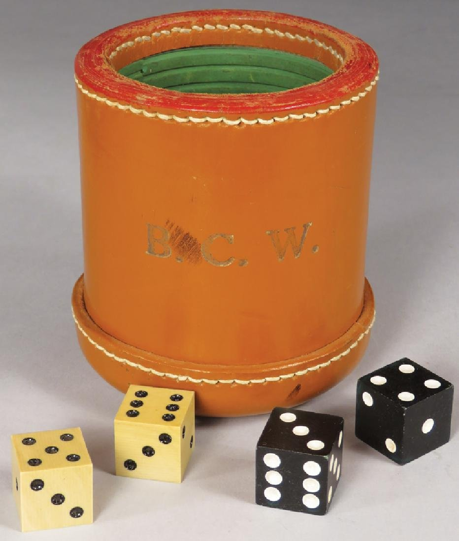 Leather Dice Cup and Dice