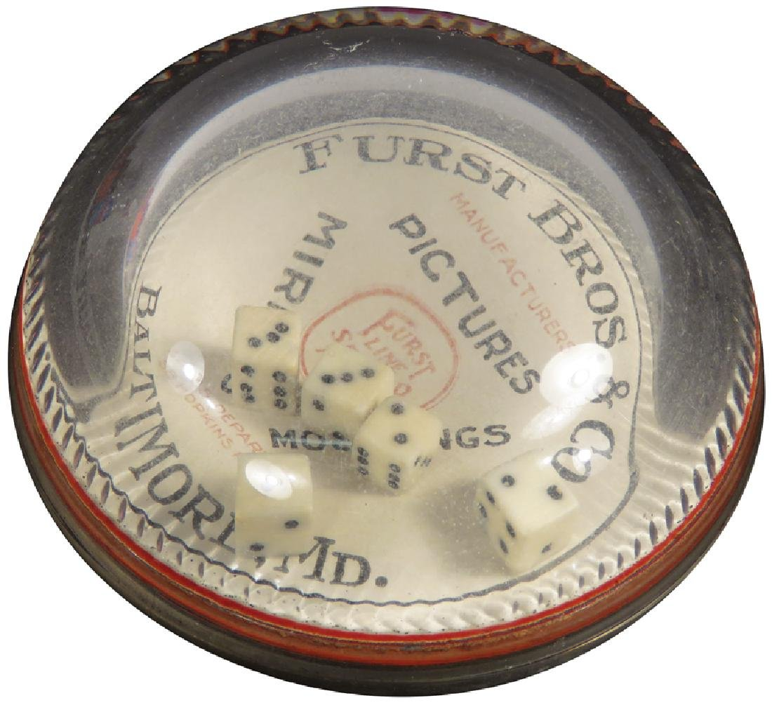 Advertising Dice Game Glass Paper Weight