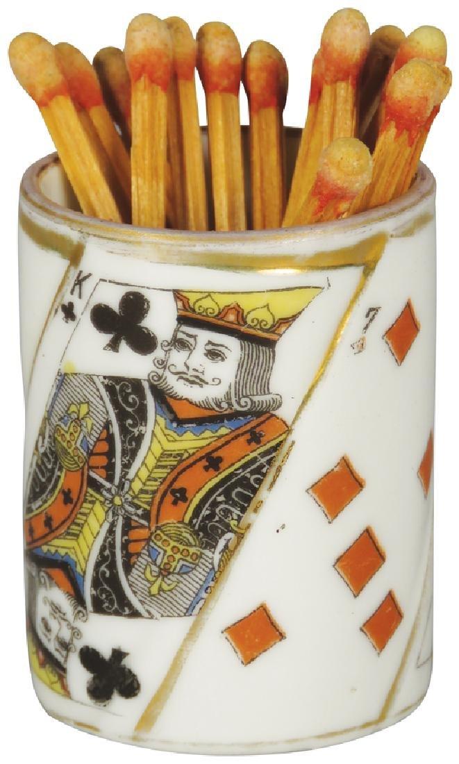 Porcelain Card Suit Tooth Pick Holder