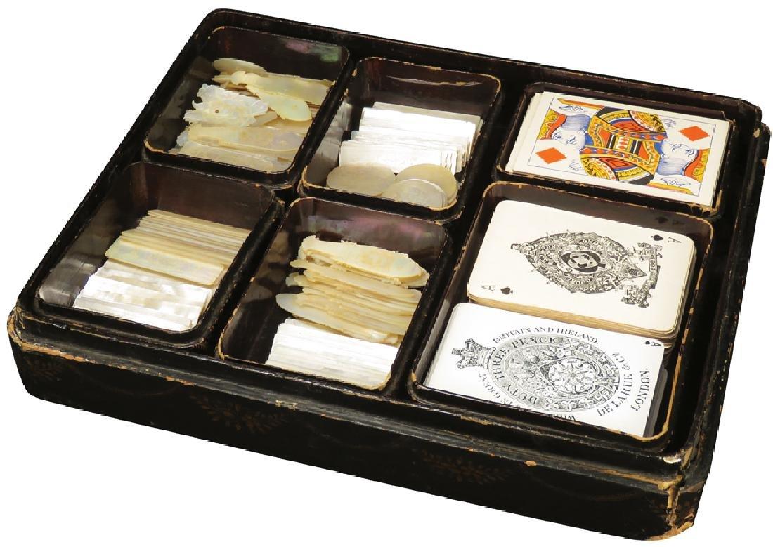 Fancy Gambling Card & Chip Marker Storage