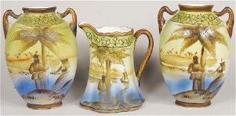 Collection of Hand Painted Nippon Porcelain Items