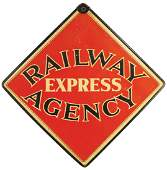 Railway Express Agency Hardboard Sign