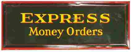 Express Money Orders Beveled Self Framed Tin Sign