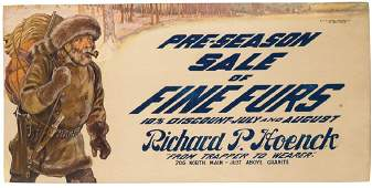Richard P. Hoenck Fur Trapper Trolley Car Sign