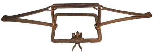 Early Hand Forged Fur Trader Large Beaver Trap