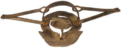 Early 1800's Unique Round Beaver Trap