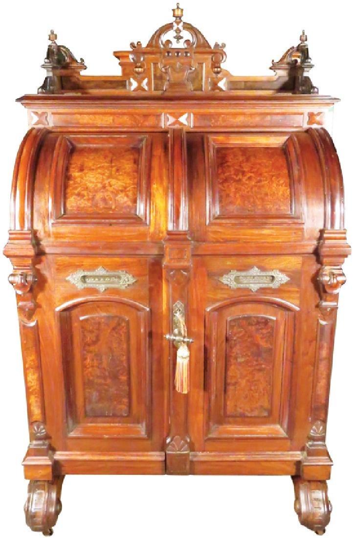 Rare Wooton Cabinet Office Secretary Desk