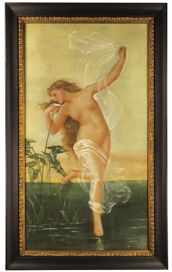 Saloon Nude Litho on Linen