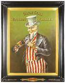 Uncle Sam's Monogram Whiskey Tin Sign