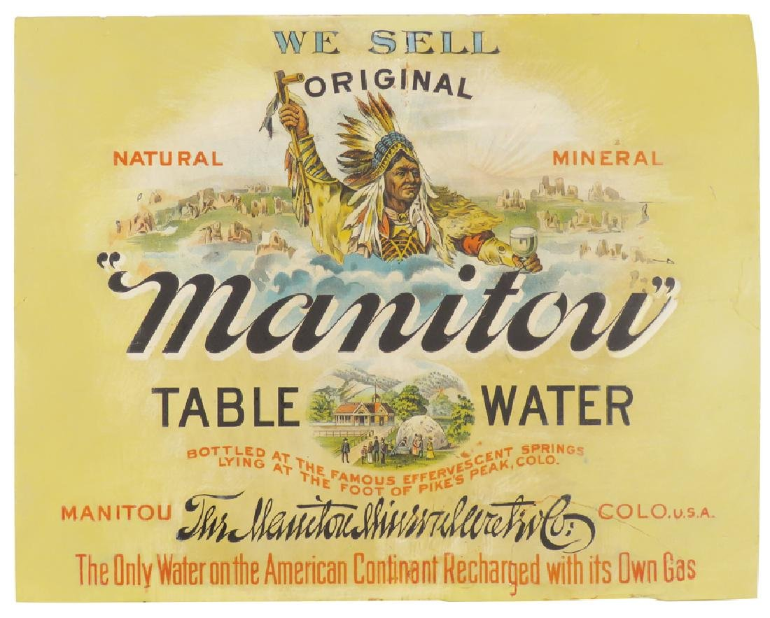 Manitou Table Water Cardboard Sign