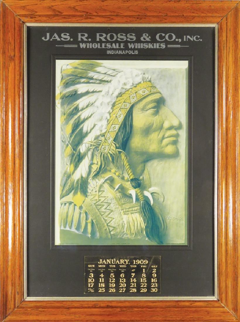 1909 Calendar for Jas. R. Ross Co. Whiskies