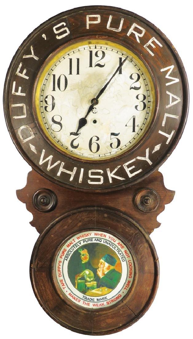 Duffy's Pure Malt Whiskey Baird Advertising Clock