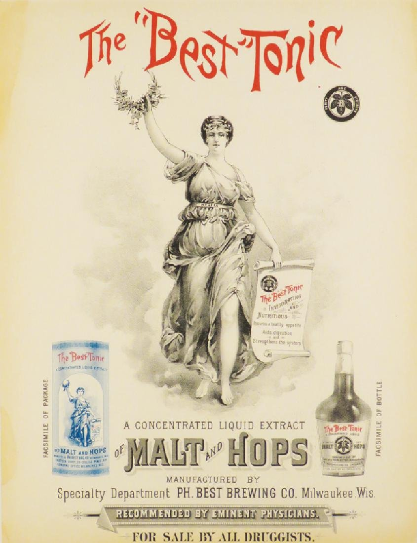 Best Tonic Malt and Hops Paper Advertisement