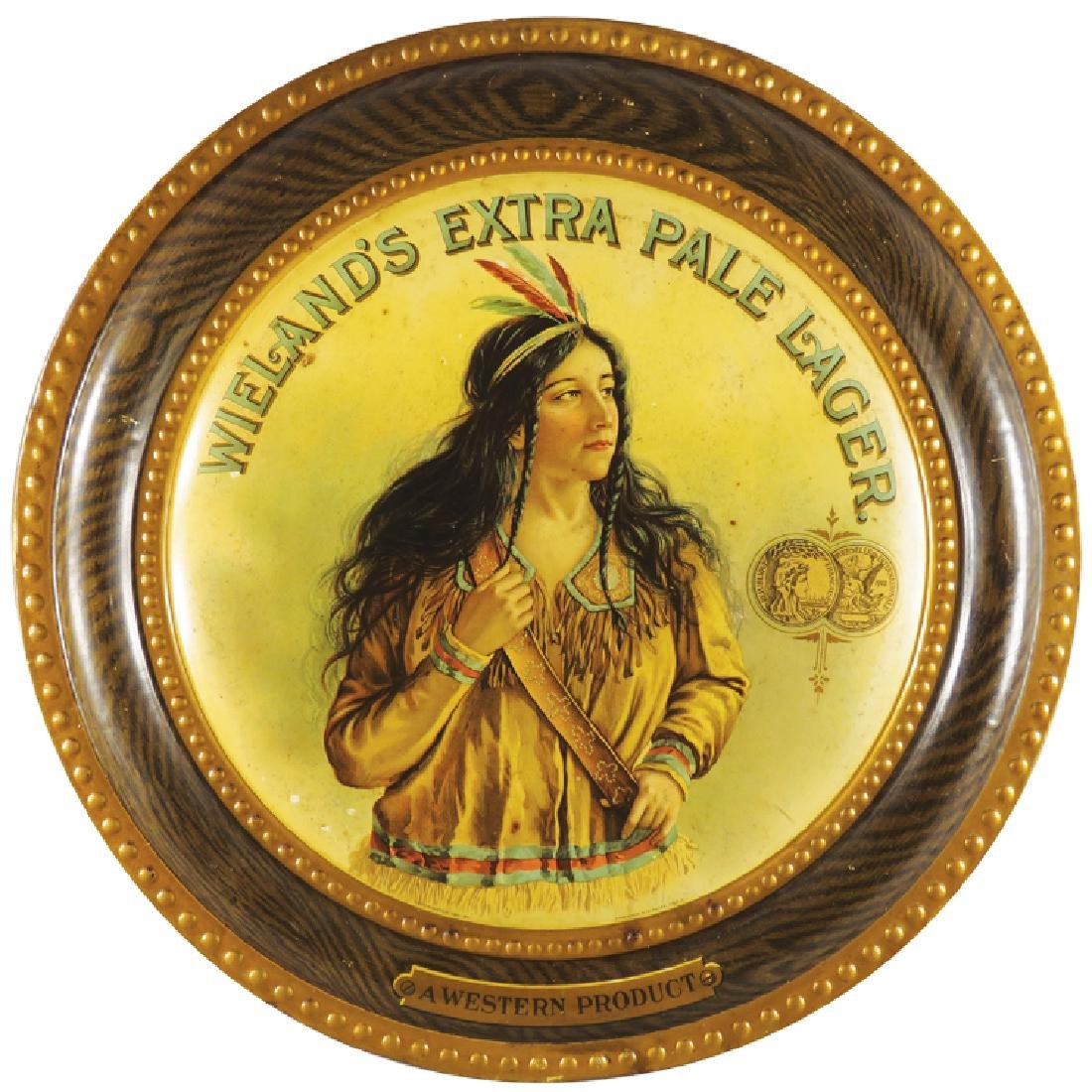 Wieland's Extra Pale Lager Self Framed Tin Sign