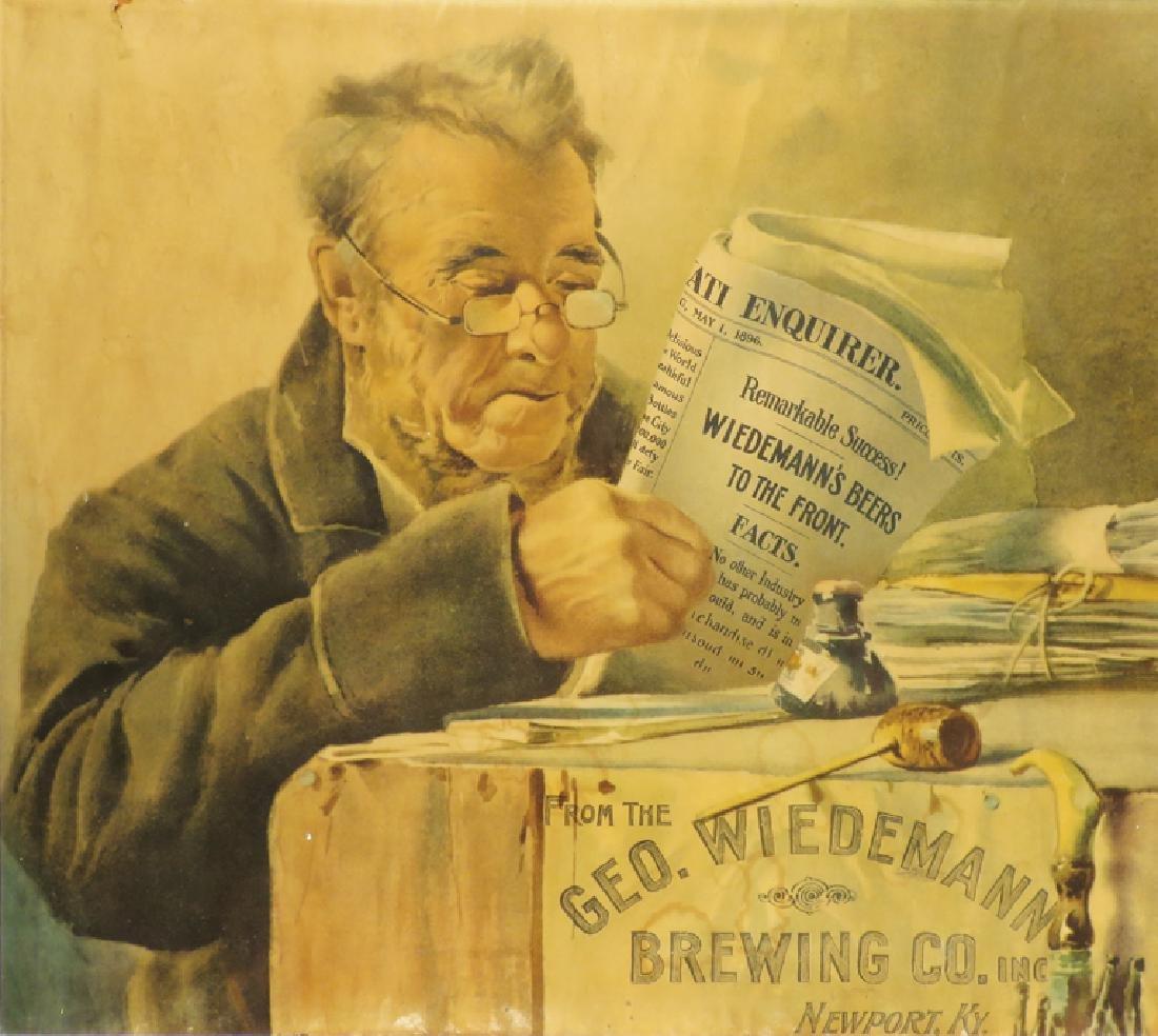 Geo. Wiedemann Brewing Co. Paper Sign